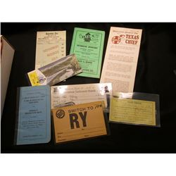 Large Group of Railroad Memorabilia dating back to 1913; & 1911 S Barber Half-Dollar, Good/AG.