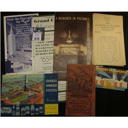 Large Group of Chicago World Fair 1933 Memorabilia.