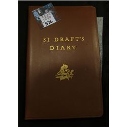 "John Deere ""Si Draft's Diary"", Moroccan leather bound, by Howard M. Railsback, Copyright 1951."