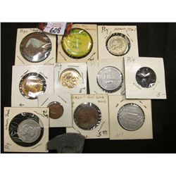 (12) Tokens, Medals, Pin Back and Flipping Coins All Pig Related.