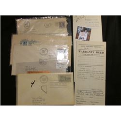 (3) 1919-1962 Postmarked Covers from Arizona; Scrip 1539-1939 Arizona's Cuatro Centennial; 1959 Firs