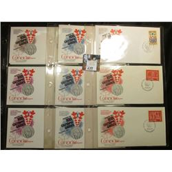 (16) Stamped First Day of Issue Covers in three plastic pages from the 1975-76 XXI Olympic Games. Al