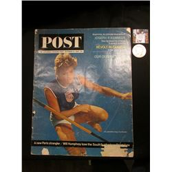 """The Saturday Evening Post"" Oct. 10, 1964, ""Our Olympic Stars in Action"" , ""Revolt in Canada is the"