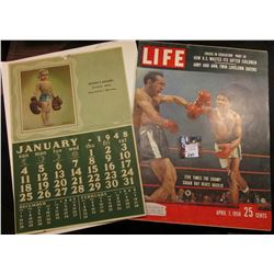 """Life"" Magazine April 7, 1958 ""25 cents"" Cover art features ""Five Times the Champ: Sugar Ray Beats B"