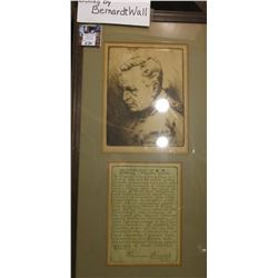 """An Impression of General Leonard Wood…"" Framed with a quotation from Harrison Kerrick, Lieut Col, C"