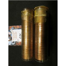 1955 P & D Solid date Rolls of Uncirculated Lincoln Cents in plastic tubes, I have not opened these