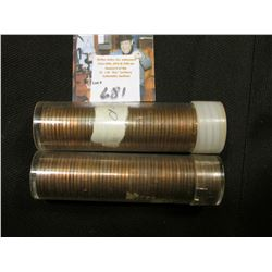 1956 D & 57 D Solid date Rolls of Uncirculated Lincoln Cents in plastic tubes, I have not opened the