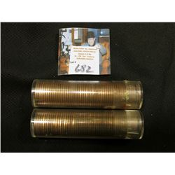 1954 S & 55 D Solid date Rolls of Uncirculated Lincoln Cents in plastic tubes, I have not opened the