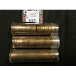 1954 S, 55 D, & 57 D Solid date Rolls of Uncirculated Lincoln Cents in plastic tubes, I have not ope