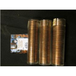 1963 P, 65 P , & 68 S Solid date Rolls of Uncirculated Lincoln Cents in plastic tubes, I have not op