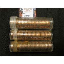 1962 P, 63 P, & 68 S Solid date Rolls of Uncirculated Lincoln Cents in plastic tubes, I have not ope