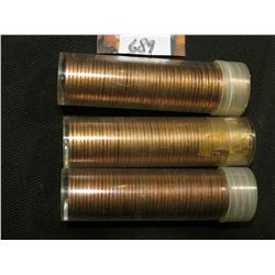 1963 P, 67 P, & 68 S Solid date Rolls of Uncirculated Lincoln Cents in plastic tubes, I have not ope