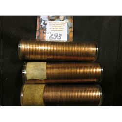 1960 D Large Date, 61 D, & 63 P Solid date Rolls of Uncirculated Lincoln Cents in plastic tubes, I h