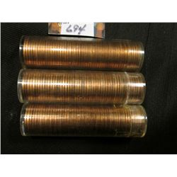 1961 P, 62 P, & 64 D  Solid date Rolls of Uncirculated Lincoln Cents in plastic tubes, I have not op
