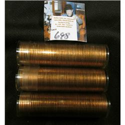 1960 P, D Large Date, & 61 P Solid date Rolls of Uncirculated Lincoln Cents in plastic tubes, I have