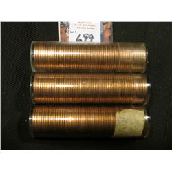 1960 D Large Date, 61 D, & 62 D  Solid date Rolls of Uncirculated Lincoln Cents in plastic tubes, I