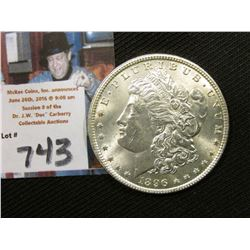 1896 P  Morgan Silver Dollar, a very nice Gem BU.
