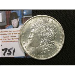 1888 P Morgan Silver Dollar, Uncirculated.