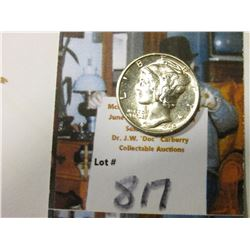 1940 D Mercury Dime, Super Brilliant Uncirculated.