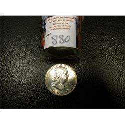 1960 P Original BU Roll of Franklin Half Dollars in a plastic tube, (20 pcs.).
