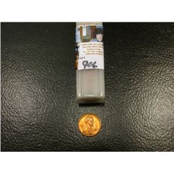 1947 S Original BU Roll of Lincoln Cents in a plastic tube. It is possible there are a few carbon sp
