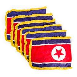 Set of 6 Aaron Rapaport (Seth Rogen) Mini North Korean Flags from The Interview