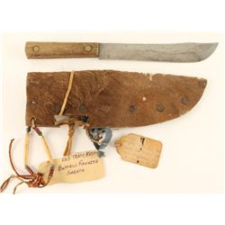 Old Trade Knife with Buffalo Rawhide Sheath