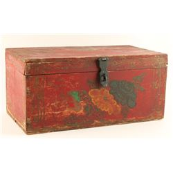 Painted Wooden Box Circa 1860