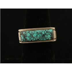 Unique Lone Mountain Turquoise Ring