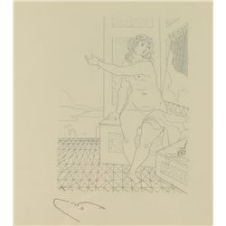 Plate Etching of Nude