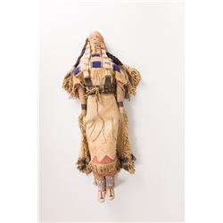 "Cheyenne Beaded Doll, 23"" tall"