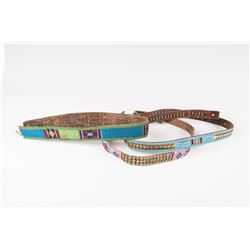 Three Plateau Beaded Panel Belts