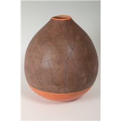 "Hopi Pueblo Jar by Les and Jocelyn Namingha, 10 ½"" x 9 ½"""