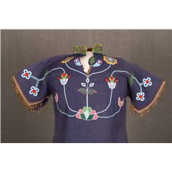 "Crow Beaded Woman's Dress, 48"" x 31"""
