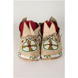 "Cheyenne Beaded Women's Moccasins, 9 ½"" long"