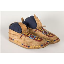 "Cheyenne Beaded Woman's Moccasins, 9 ½"" long"