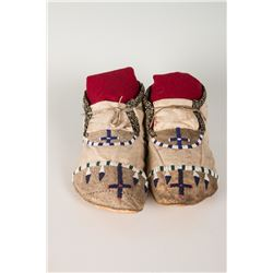 "Apache Beaded Man's Moccasins, 10"" long"