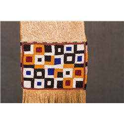 "Plains Cree Beaded Pipe Bag, 15 ½"" long"