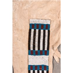 "Blackfeet Beaded Man's Leggings, 44"" long"