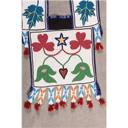 "Winnebago Overlay Beaded Bandolier Bag, 42"" x 16"""