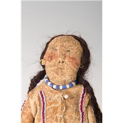 "Southern Plains Beaded Hide Doll, 12"" long"