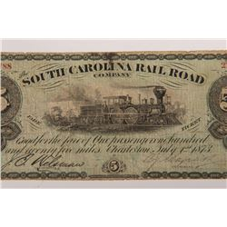 Pair of Railroad and Confederate Bills