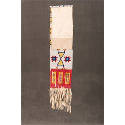 "Sioux Beaded and Quilled Pipebag, 18 ½"" long"