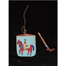 Plateau Pictorial Fully Beaded Square Pipe Bag