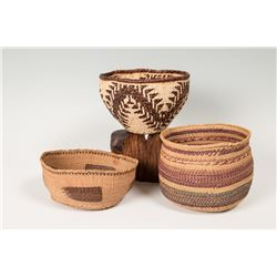 Group of Three Baskets