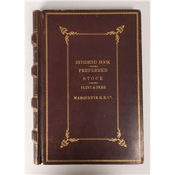 Marquette Railroad Company Dividend Book and Preferred Stock List