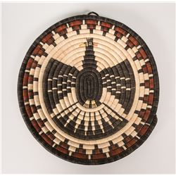 "Hopi Basketry Plaque by Velma Wadsworth, 14 ½"" diameter"