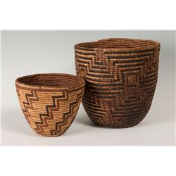 Pair of Klickitat and Salish baskets