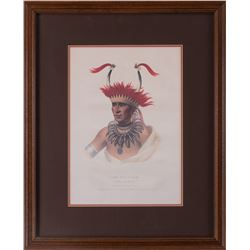 "Set of Two Antique Chief Prints , 14"" x 10""."