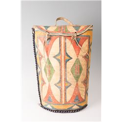 "Sioux Painted Parfleche Meat Storage Container, 20"" long"
